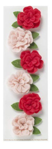 Dimensional Felt Rose MS-41-09027