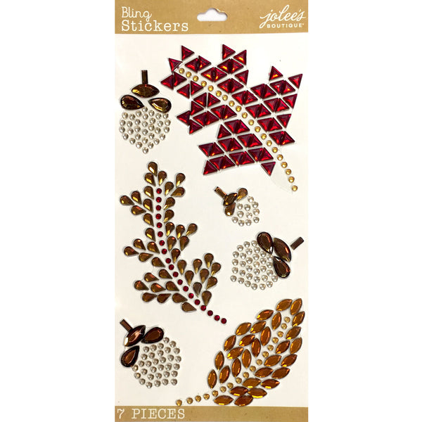 Fall Leaves Bling Gem Icons 50-30289
