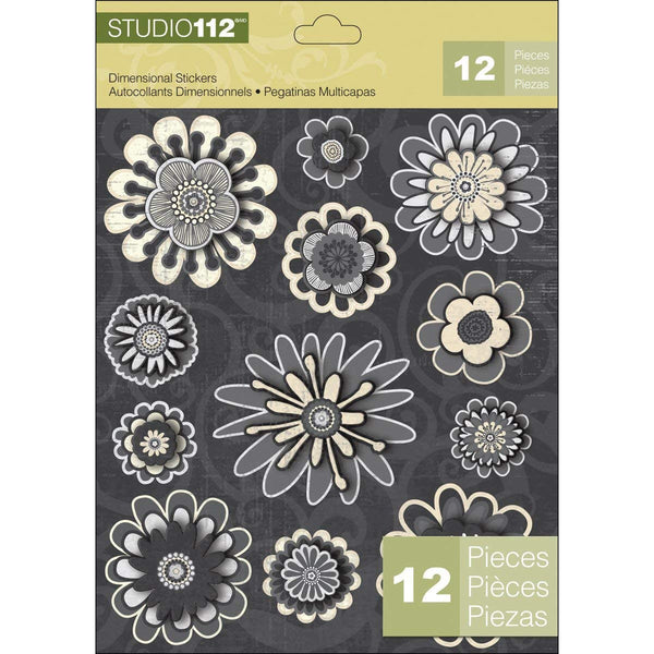 Flowers Dimensional Stickers KCO-30-658769