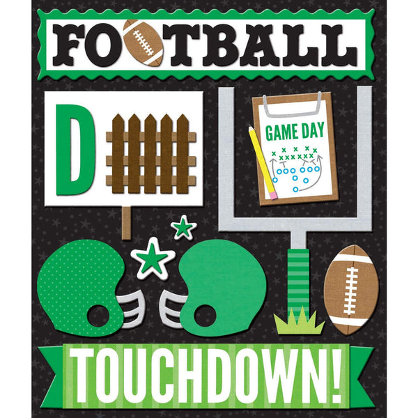Green Football Sticker Medley KCO-30-623385