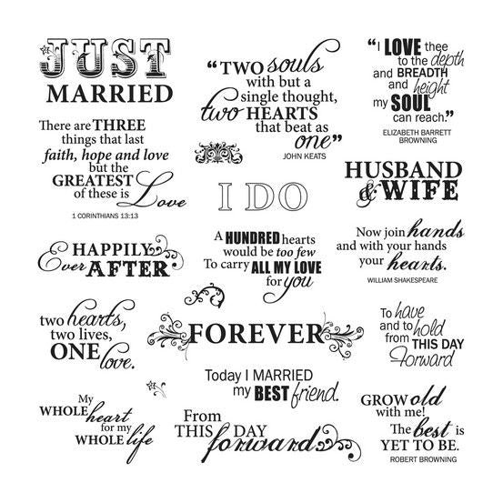just married quotes f 03 025154 cozys scrapbooking