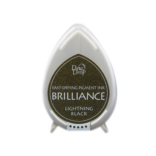Lightning Black Brilliance Dew Drop Ink Pad BD-95