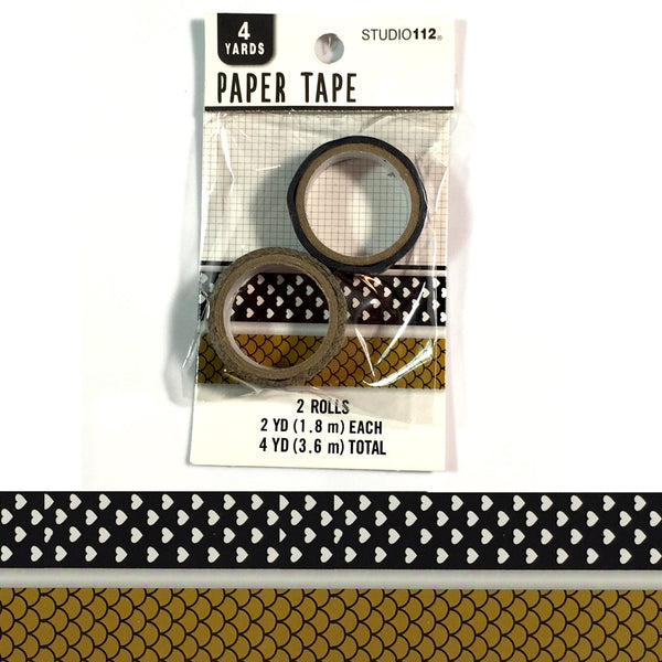 Neutral Fish Scale and Hearts Paper Tape KCO-30691810