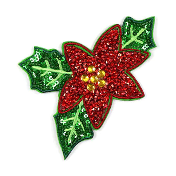Poinsettia Bling Patch R-603190