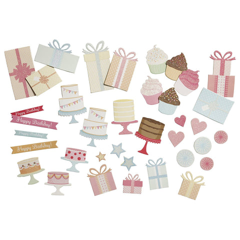 Present and Icon Chipboard Die Cuts MS-41-03004