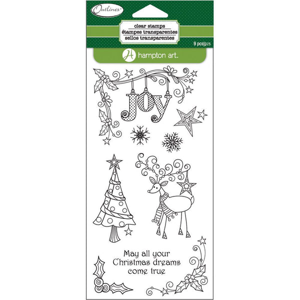 Reindeer Joy Outlines HA-SC0669