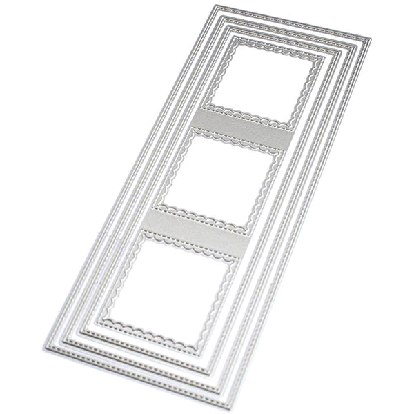 Scalloped Square Frames Slim Card Die