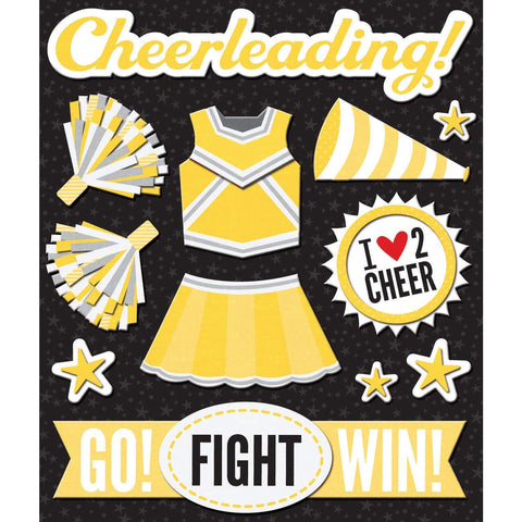 Yellow Cheerleader Sticker Medley KCO-30-623446