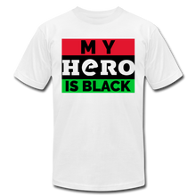 Load image into Gallery viewer, MY HERO IS BLACK - white