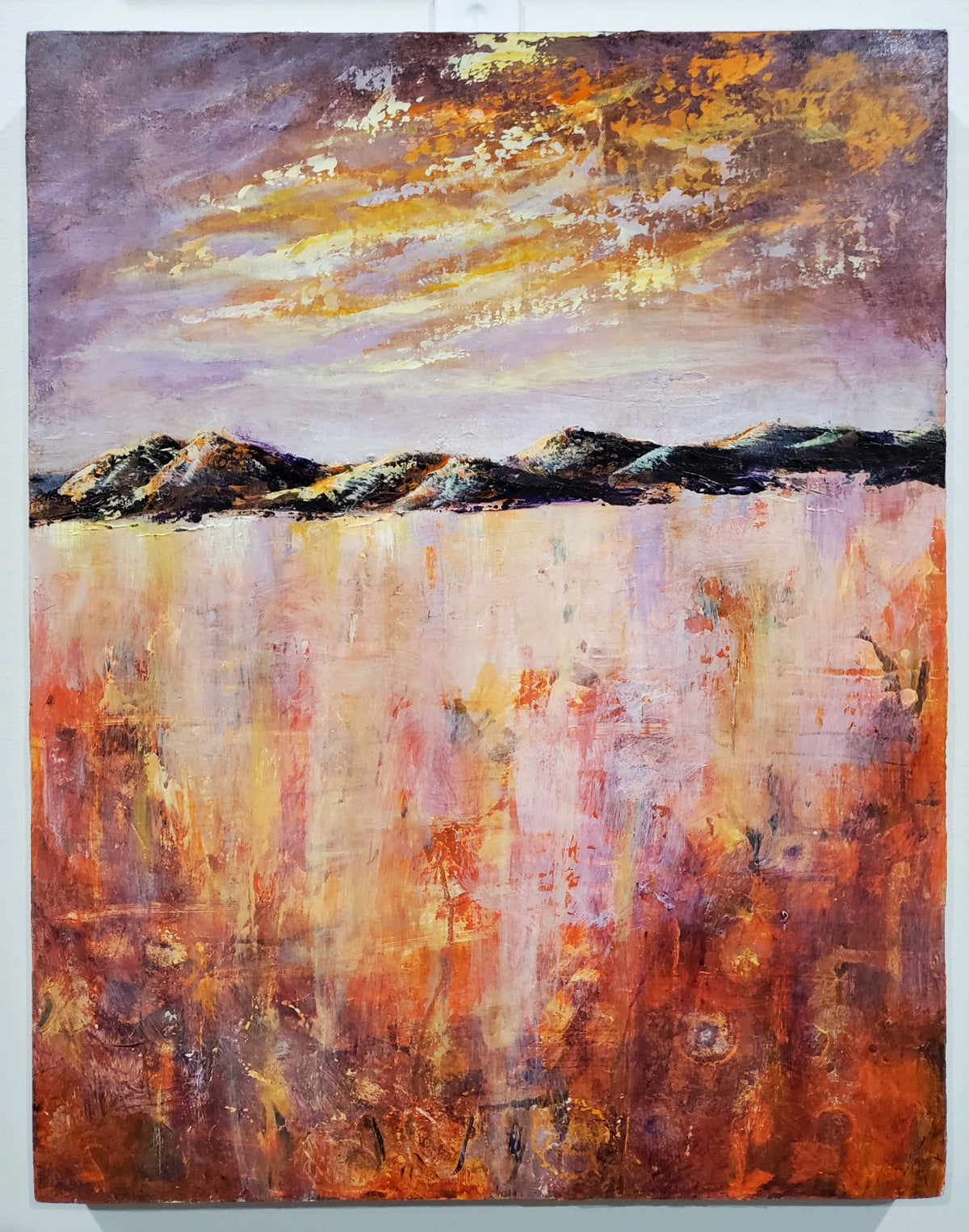 """Prairie Heat"" by Selena McColley, Acrylic Mixed Media"