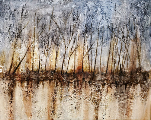 """Of Trees"" by Selena McColley, Acrylic Mixed Media"