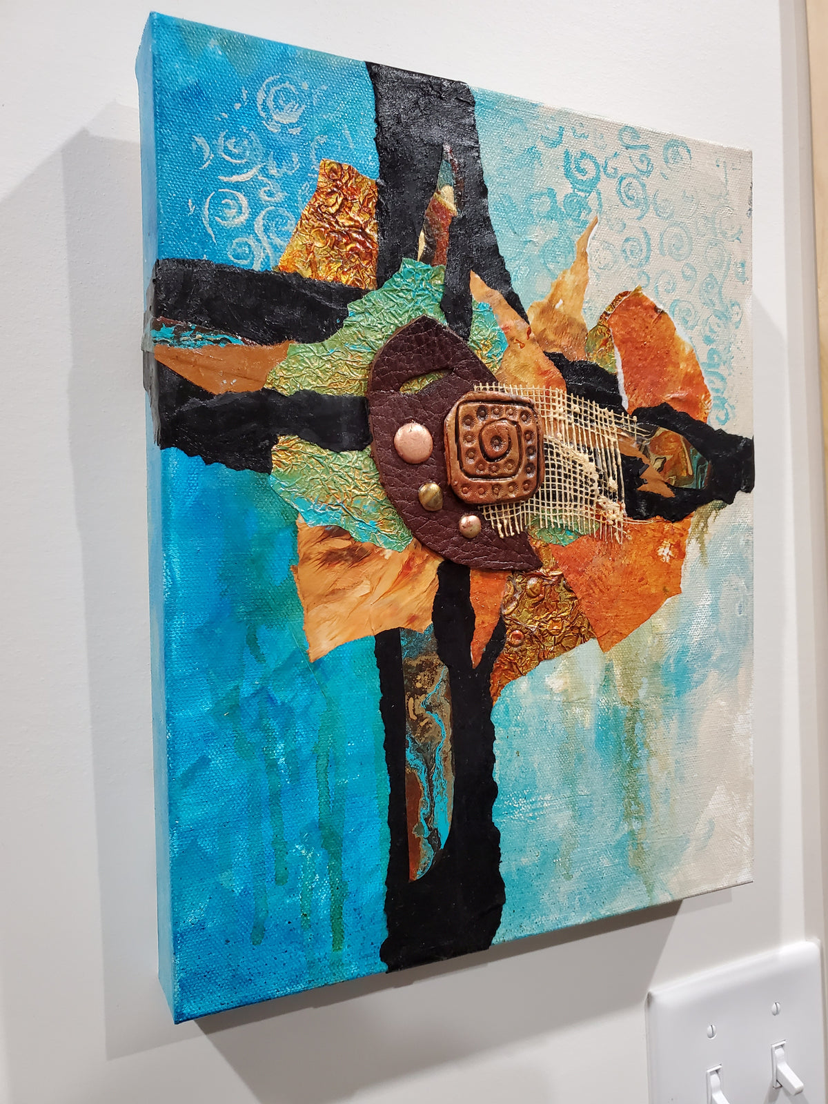 """Heart of Te Fiti"" by Selena McColley, Mixed Media Collage"