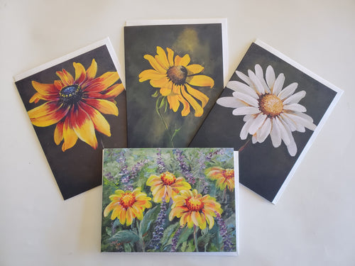 Floral Note Cards 4 Pack, Selena McColley