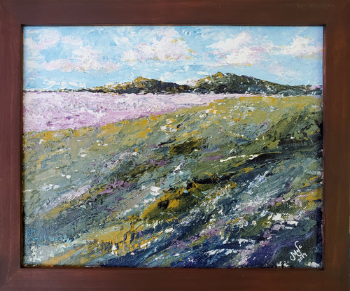 """Purple Field"" by Selena McColley, Acrylic Painting"