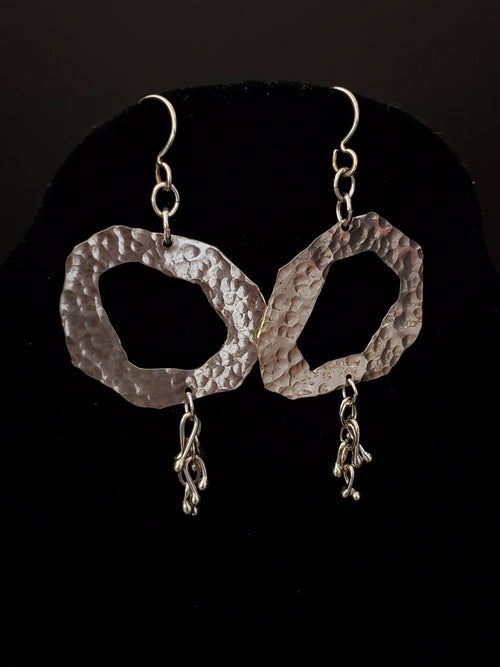 Sterling Silver Abstract Loop Earrings