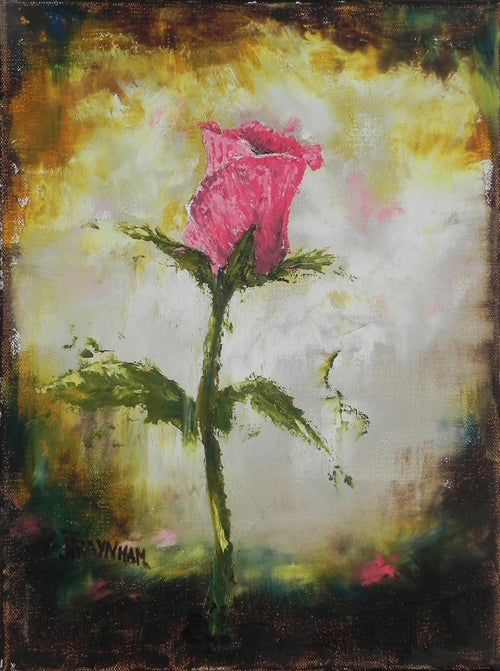 """A Modern Rose"" by Jenny Traynham - Original oil & cold wax"