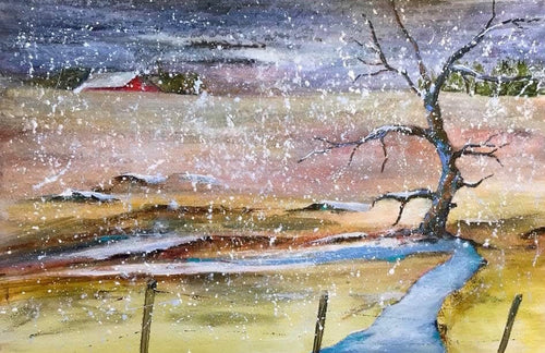 """April Showers"" by Ruth Lefko - Acrylic"