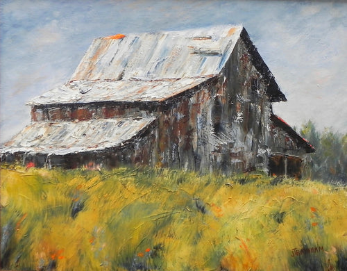 """The Barn on Rose Hill"" by Jenny Traynham - Reproduction"