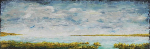 """Coastal Marsh"" by Jenny Traynham - Oil and Cold Wax"