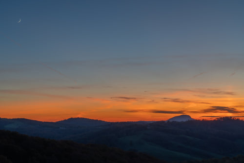 """Crescent Moon over Buffalo Mountain"" by Dan Robertson - Photography"
