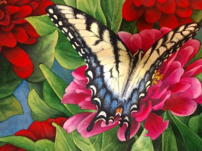 """Friends with Wings"" by Lori Sutphin - Watercolor"