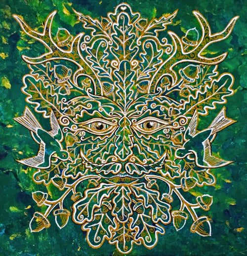 """Greenman of the Summer"" by Bronwen Valentine - Reproduction"