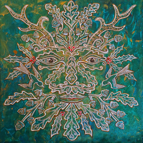 """Greenman of the WInter"" by Bronwen Valentine - Reproduction"
