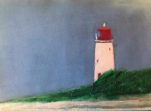 """Nassau Lighthouse"" by David Hall - Acrylic"