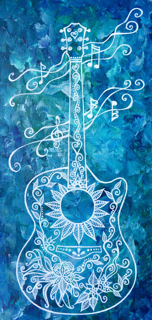"""Summer's Song Guitar"" by Bronwen Valentine - Reproduction"