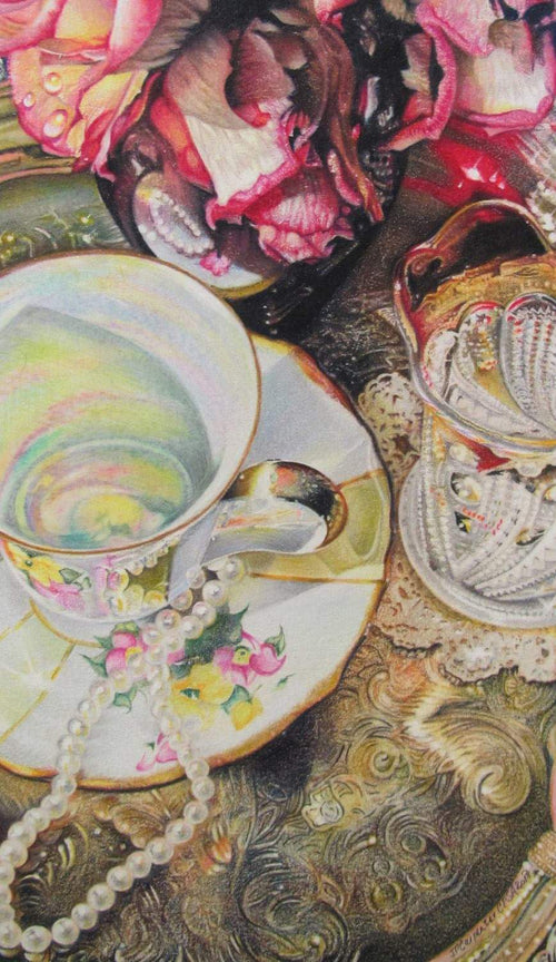 """Tea for Two, Missing You"" by Jennifer Carpenter - Colored Pencil"
