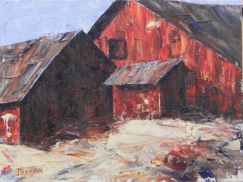 """The Barns on Pigpath"" by Jenny Traynham - Reproduction"