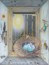 """The Early Bird Got The Worm"" by Jennifer Carpenter - Colored Pencil"