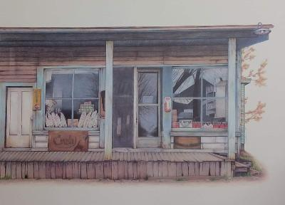 """Long's Store"" by Jennifer Carpenter, Colored Pencil Reproduction"