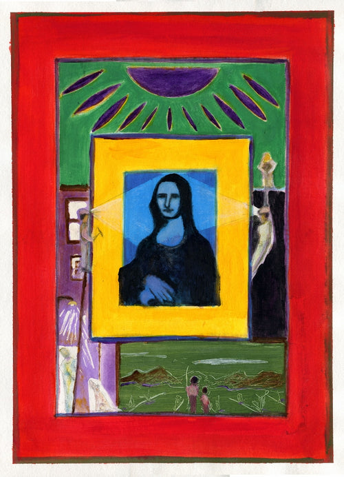 """You Can't Build a Better Mona Lisa"" by David Hall - Acrylic"