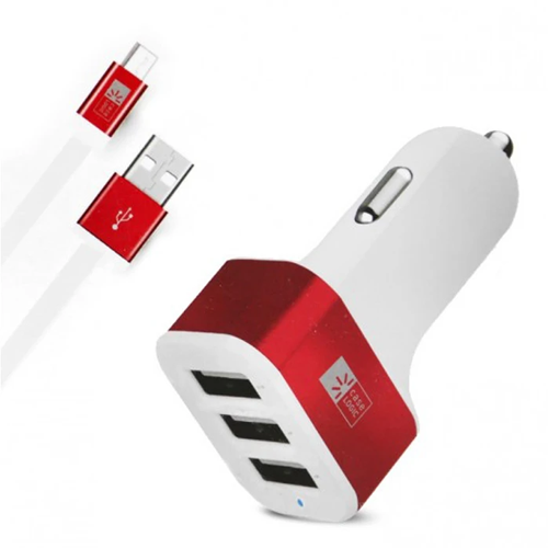 Case Logic Car Charger (3 x USB Ports, Separate micro-USB Cable)