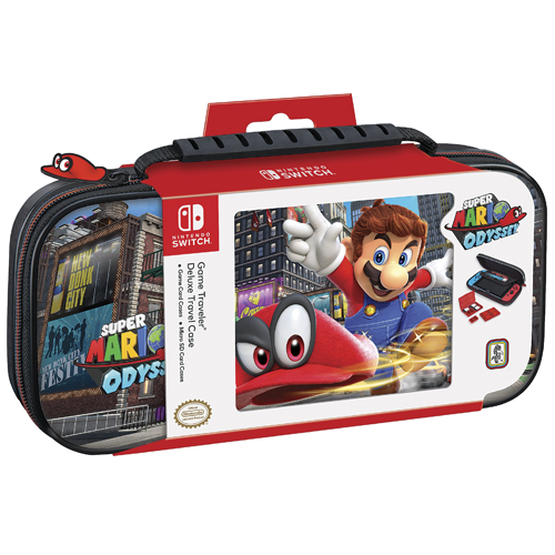 Bigben Mario Odyseey Deluxe Travel Case Official RDS for Nintendo Switch