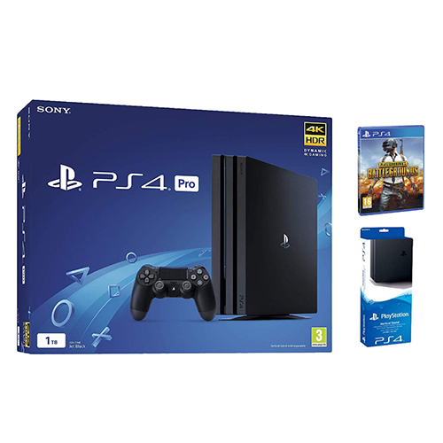 Sony PlayStation 4 Pro 1 TB + Free PUBG & Vertical Stand