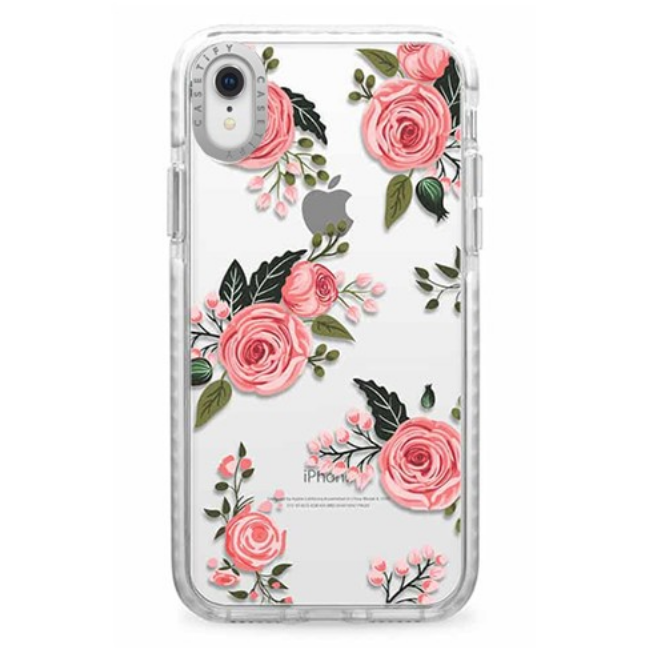 Casetify Impact Case Pink Floral Roses For Iphone XR