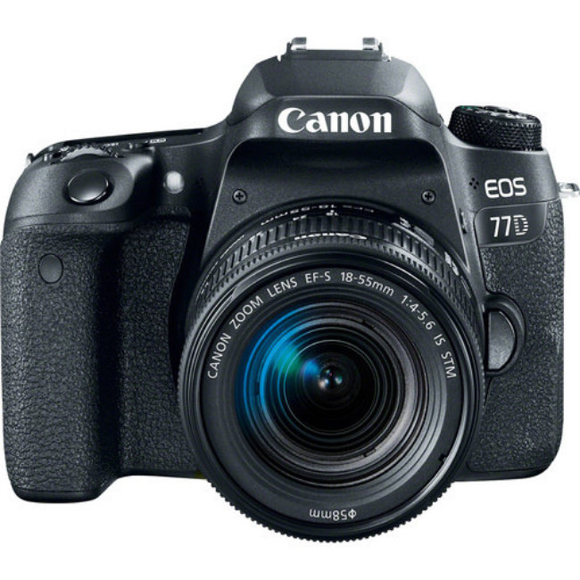 Canon EOS 77D DSLR Camera 18-55mm Lens