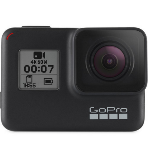 GoPro Hero7 TRAVELKIT BUNDLE (hand grip, Black sleeve, travel bag) Action Camera