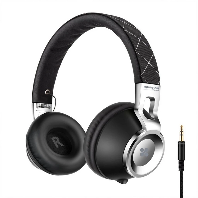 Promate Comfort-Fit On-Ear Stereo Wired Headset Thump