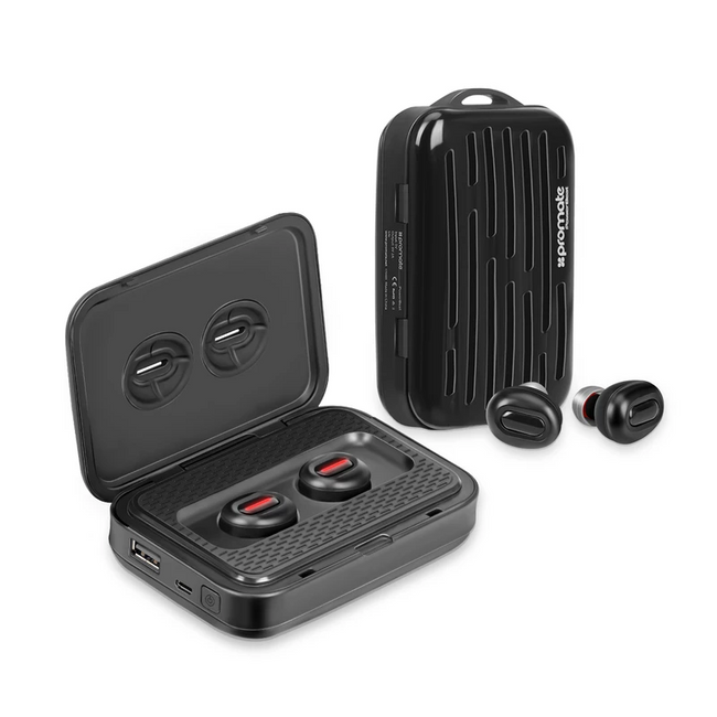 Promate High Definition Ultra-Light True Wireless Stereo Earbuds