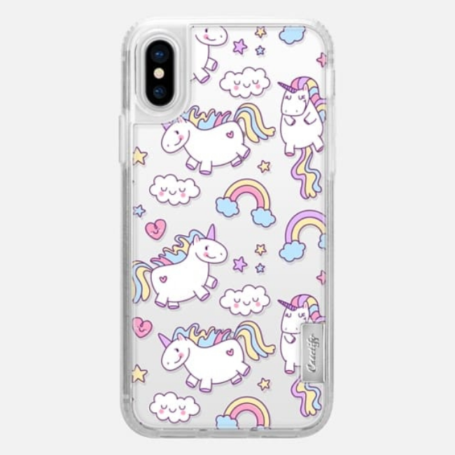 Casetify Snap Case Unicorns Rainbows For Iphone X