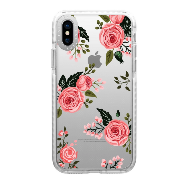 Casetify Impact Case Pink Floral Roses For Iphone X/XS