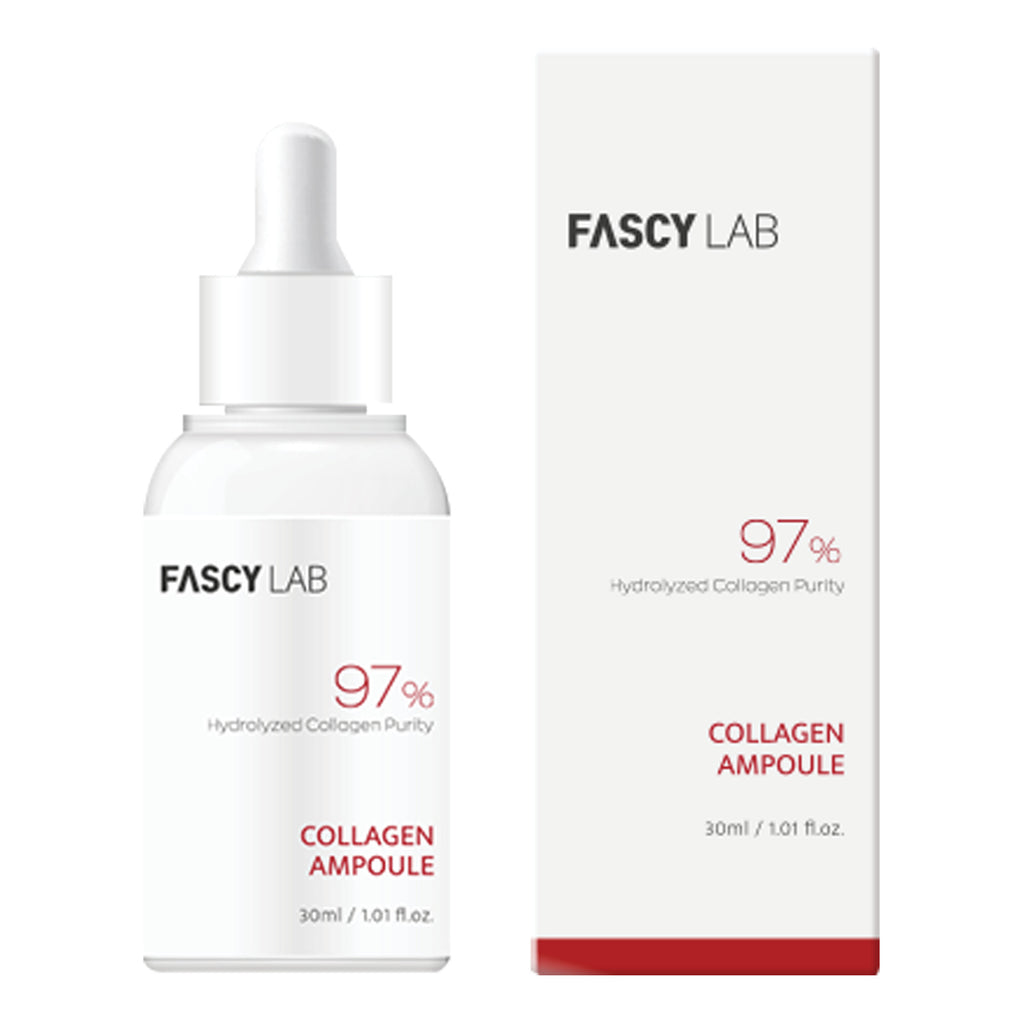 FASCY Lab Ampoule Korean Moisturizer - Collagen, Cermaide, Cica AC Cream For Sensitive Skin, Hypoallergenic, Safe Ingredients, Made In Korea (30 ml / 1.01 fl.oz)