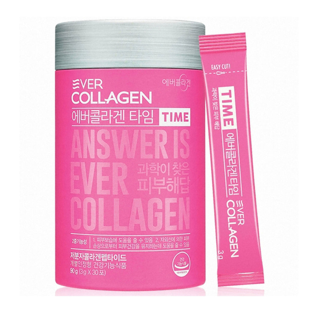 [Ever Collagen Time] Low Molecular Collagen Peptides Powder Stick Supplement-30 Ct