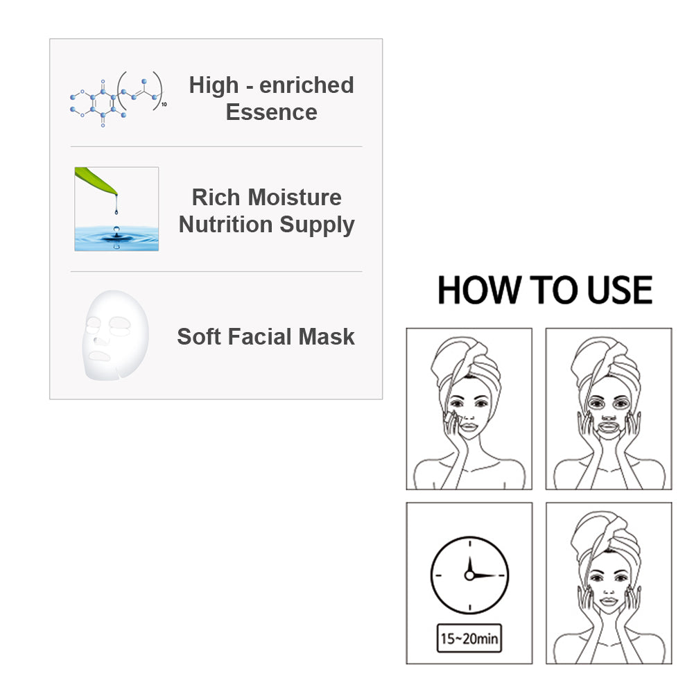 [MIJIN] Pack of 40, Nature Essence Collagen Full Face Facial Mask Sheet