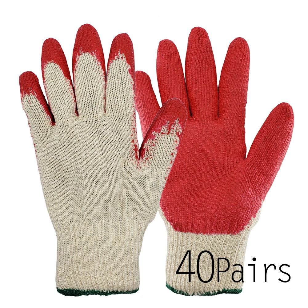 [The Elixir] String Knit Palm, Latex Dipped Nitrile Coated Work Gloves for General Purpose, Safety Working Gloves, Made in Korea