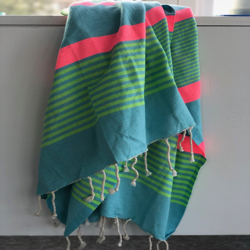Light Blue Fouta Towel and Blanket