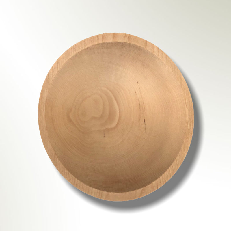 maple wooden serving bowl inside